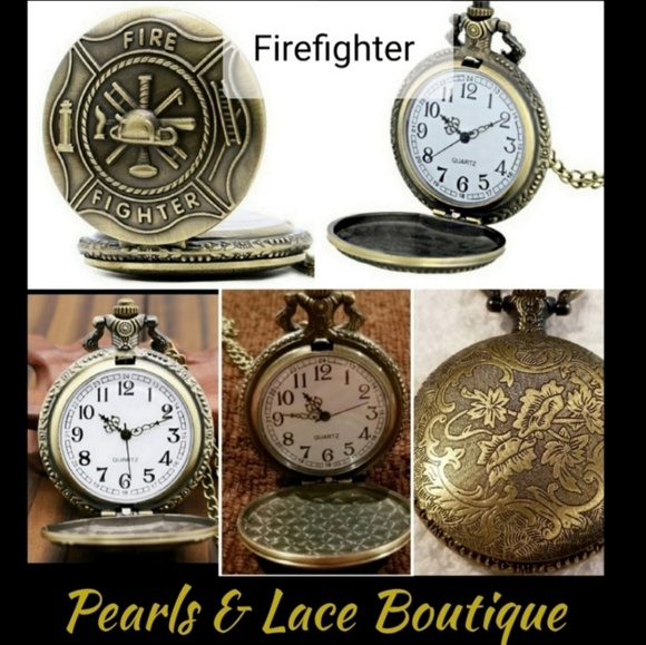 38098b876 Boutique Accessories | Fire Fighter Pocket Watch W Durable Chain ...